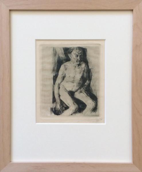 Sitzender männlicher Akt (1891)