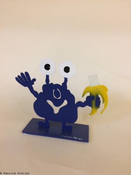 Monsterkollege mit Banane