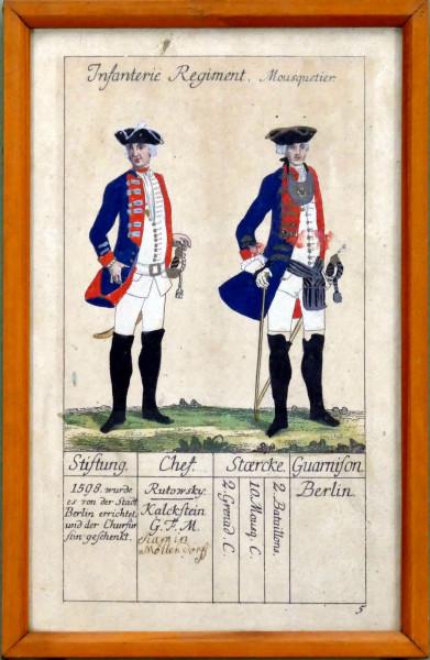 Infanterie Regiment Mousquetier-Blatt 5