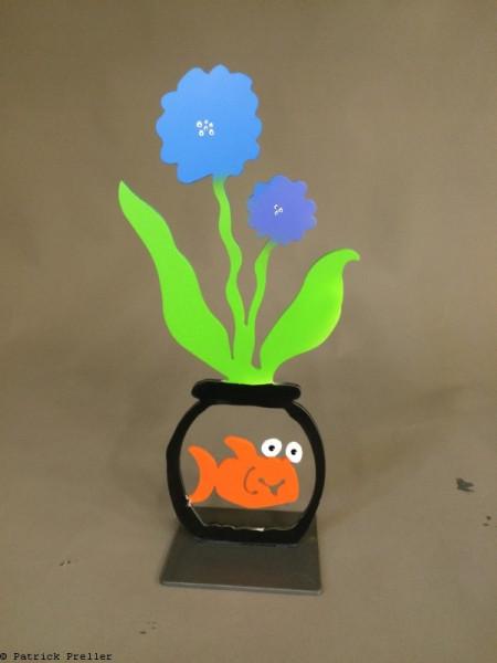 In der Blumenvase lebt ein Fisch
