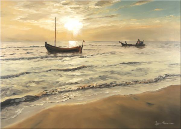 Boot vor dem Strand