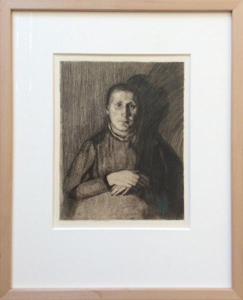 Frau mit übereinandergelegten Händen (1898)
