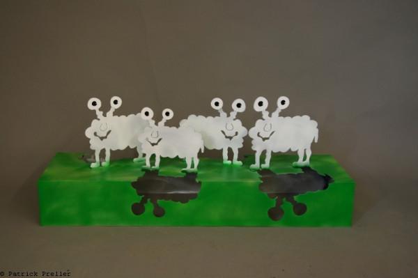 Schafe auf dem Sockel