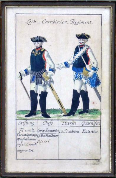Leib-Carabinier-Regiment-Blatt 73