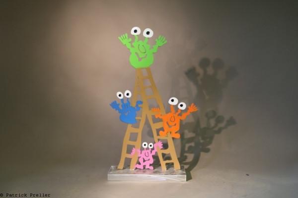Monster auf der Leiter
