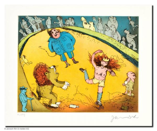 Der Löwe brüllt, es tanzt Marie, das Publikum sitzt vis-á-vis