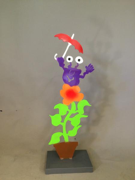 Monster mit Schirm und Blume