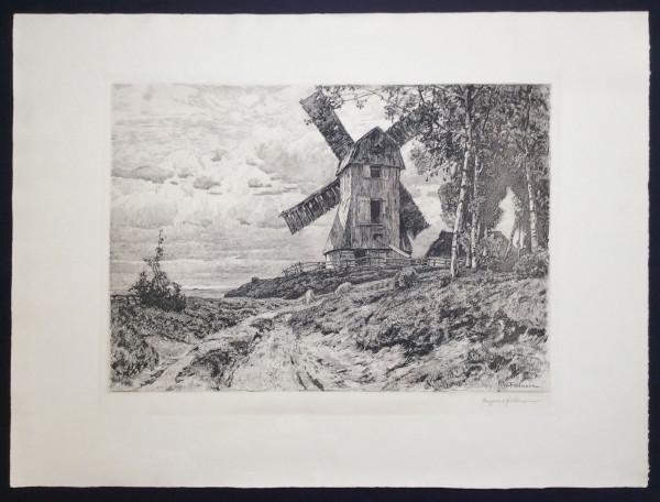 Mühle Heidelandschaft