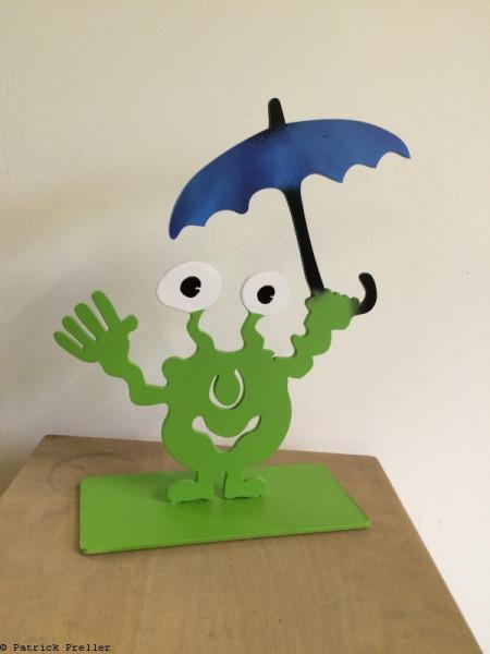 Monsterkollege mit Regenschirm