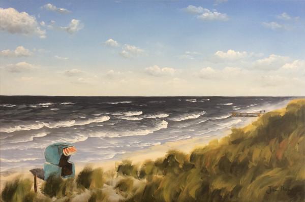 Strand mit Strandkorb 1