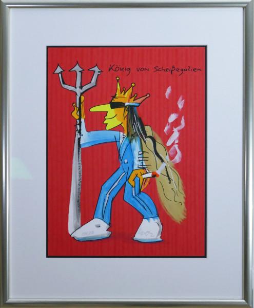 König von Scheissegalien (rot)