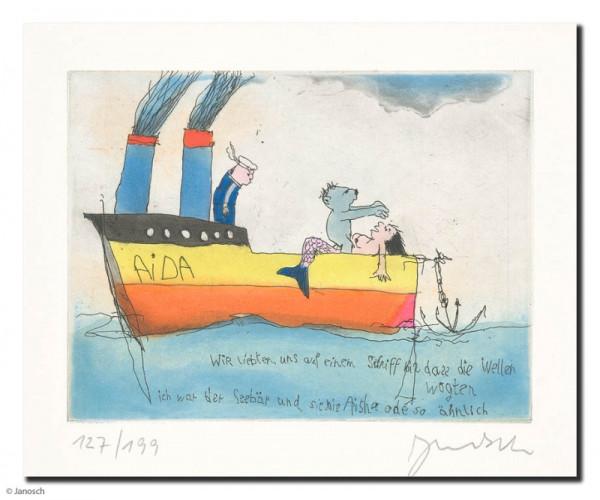 Wir liebten uns auf einem Schiff bis dass die