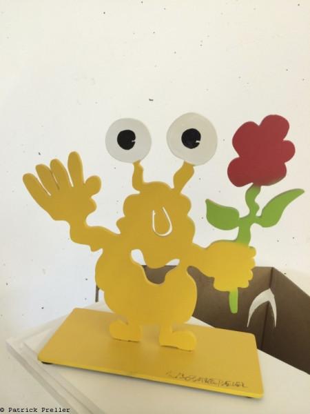Monsterkollege mit Blume