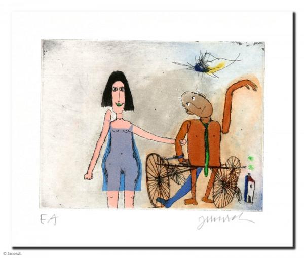 Ich und mein Mann Manni Manngold mit seinem Rad