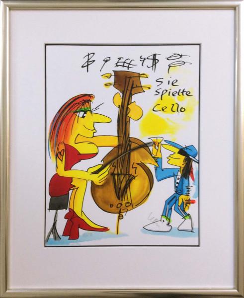 Sie spielte Cello