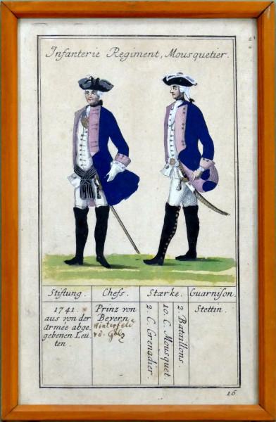 Infanterie Regiment Mousquetier-Blatt 16