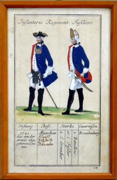 Infanterie Regiment, Fusiliers-Blatt 18