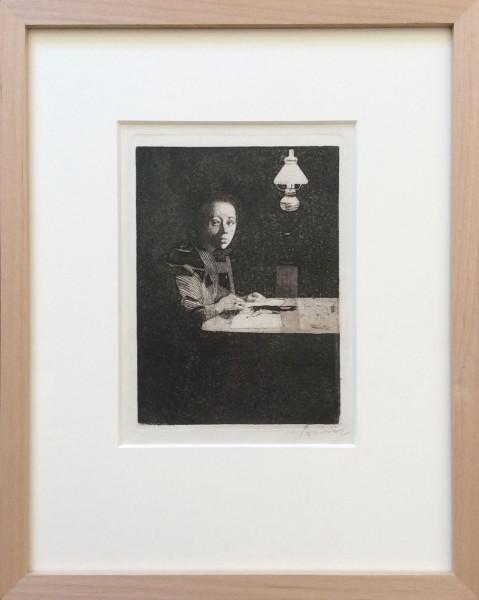Selbstbildnis am Tisch (1893)