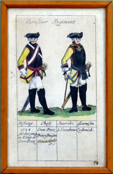 Curassier Regiment-Blatt 74