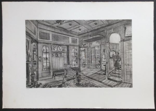Haus Hammer, Foyer u.Bibliothek, Lichterfelde-Ost, Grabenstraße 40
