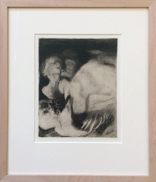 Tod und Frau um das Kind ringend (1911)