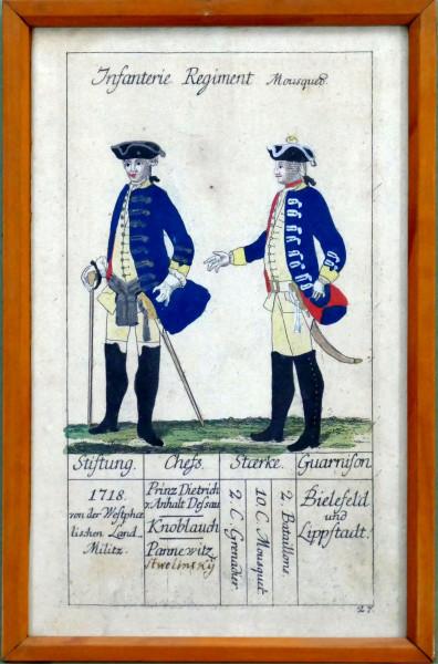 Infanterie Regiment Mousquetier-Blatt 27