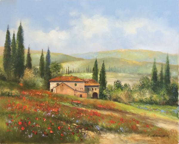 Toskana, Weingut bei Gimignano
